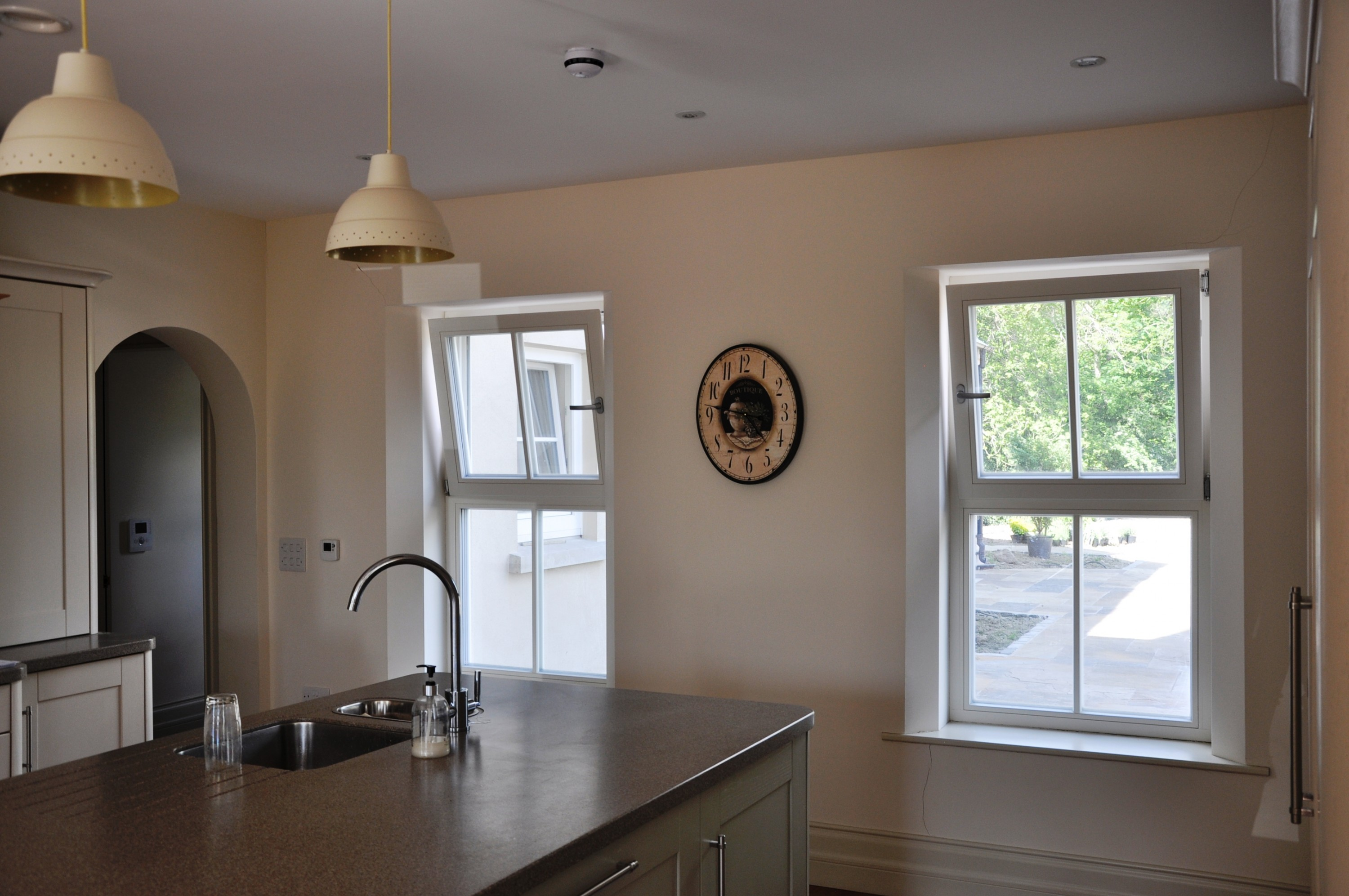 Tilt and turn window style for kitchen