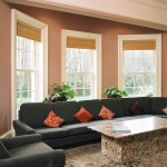 Sliding sash style windows in modern living rooms
