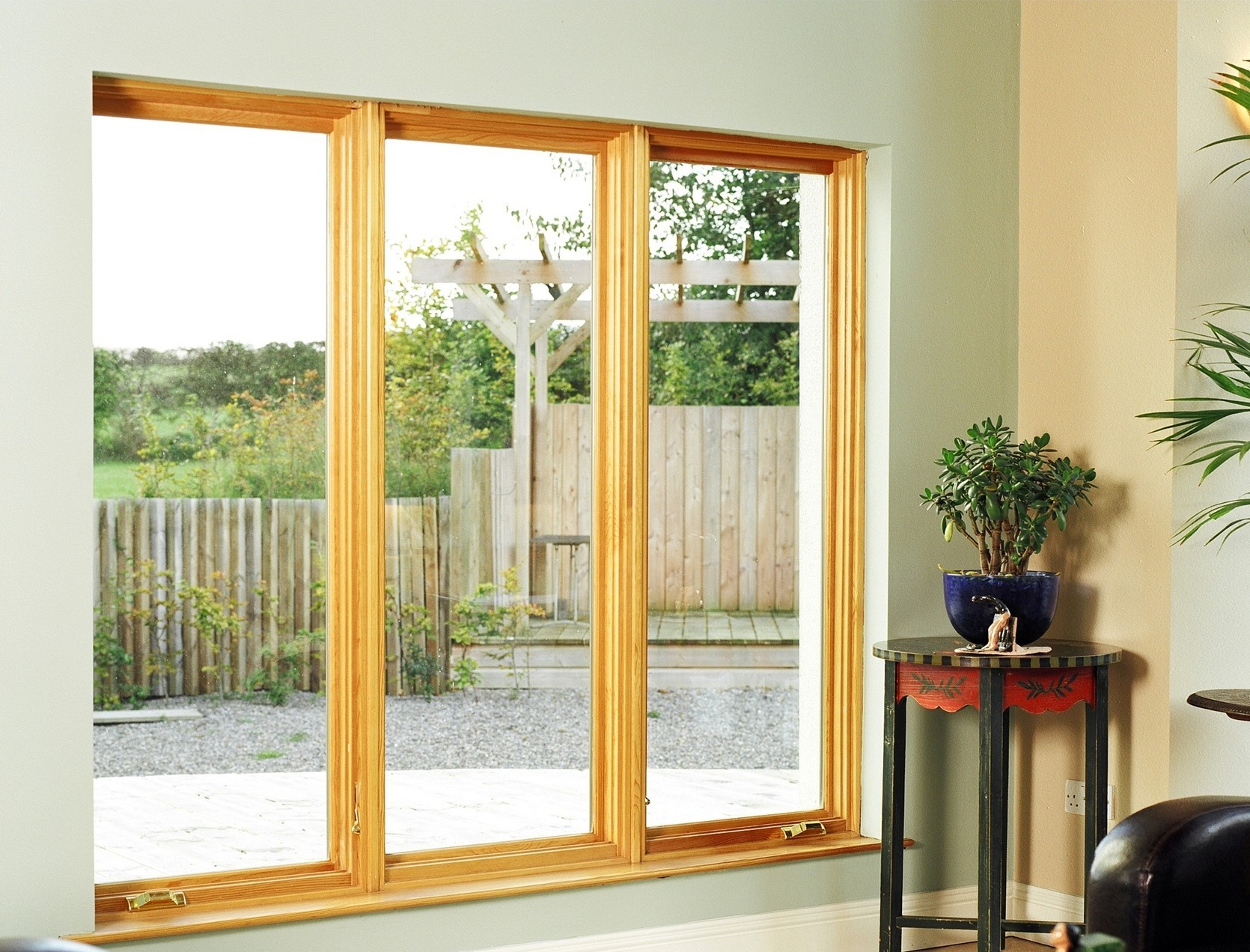 Wooden side hung windows