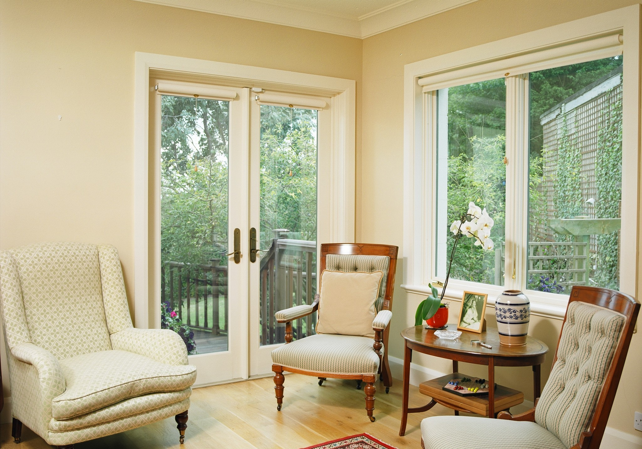 Wooden french doors for villas