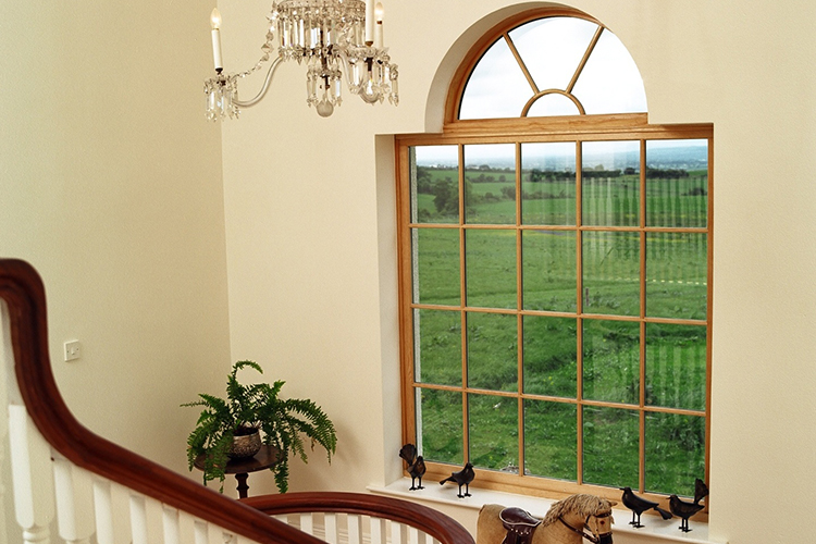 Feature Wood Window With Round Top