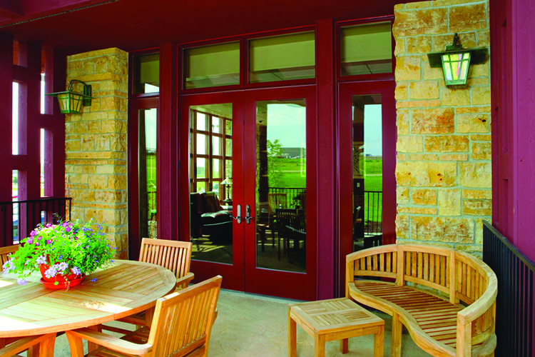 Red French Patio Door