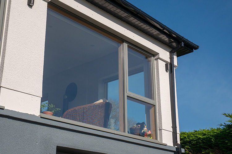 Grey AluClad Casement Windows
