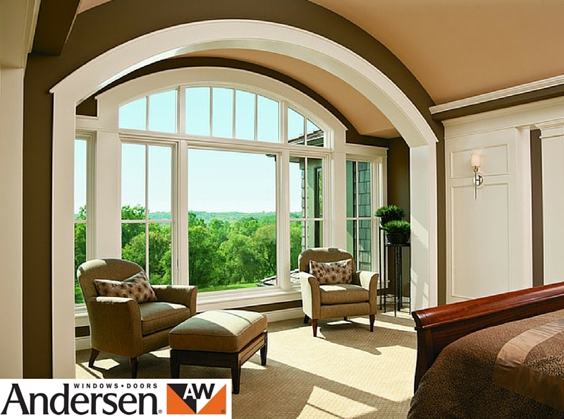 Andersen clad wood arch window