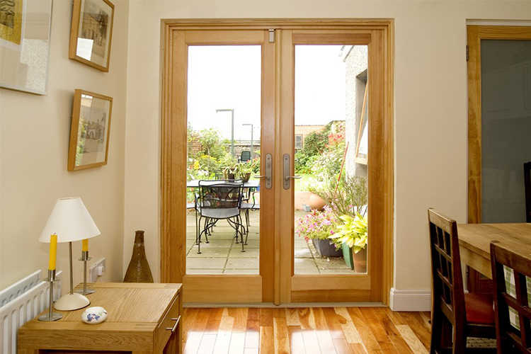 Wooden French Doors With Glass