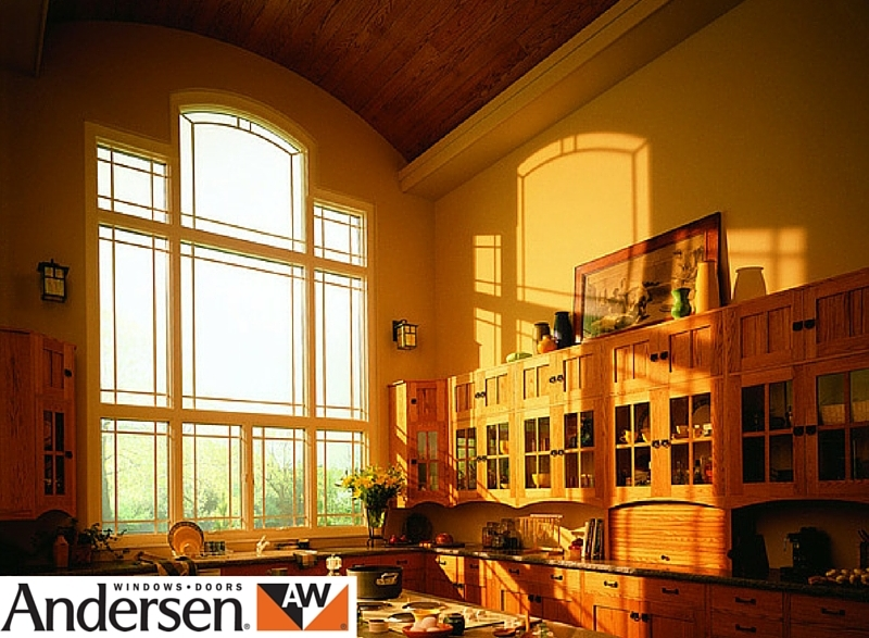 Andersen clad wood curved window