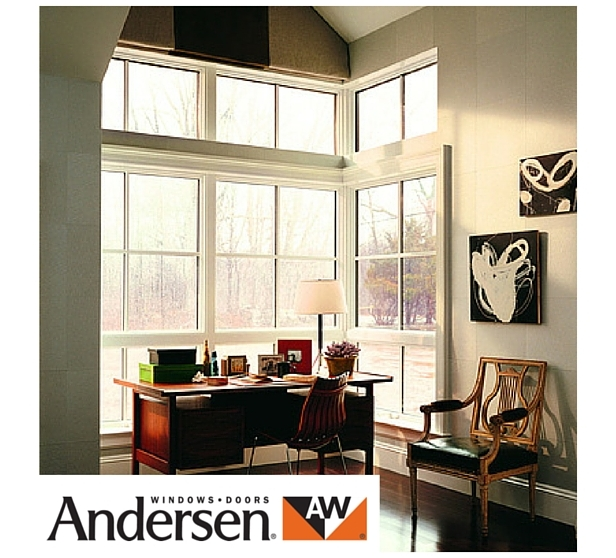 Andersen top hung window with white panel
