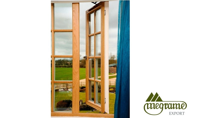 Megrame aluminium clad wood side hung casement windows