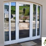 Megrame french door for custom entrance shape