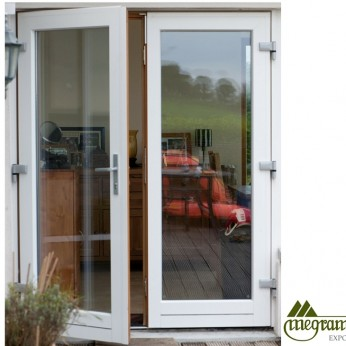 Megrame french door with white panel