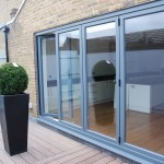 Signature bi-fold door with grey panel for patios