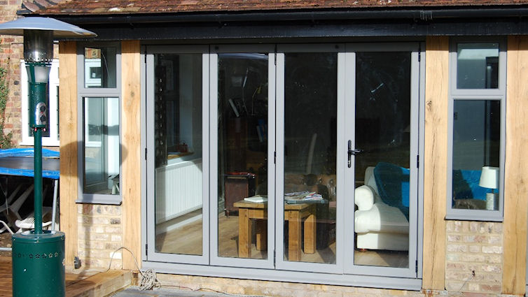 Signature Easifold doors with Grey panel