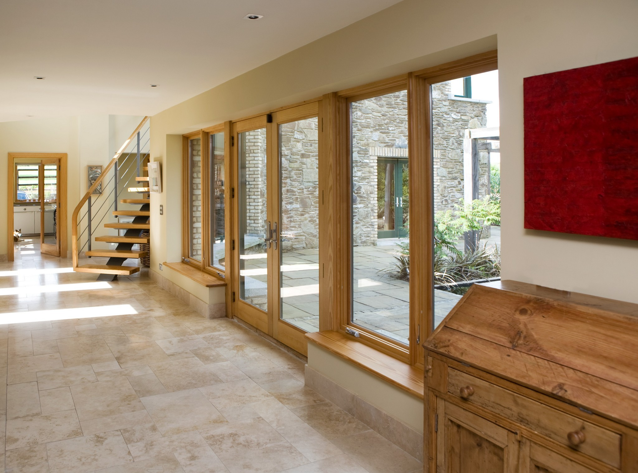 French door with polygons