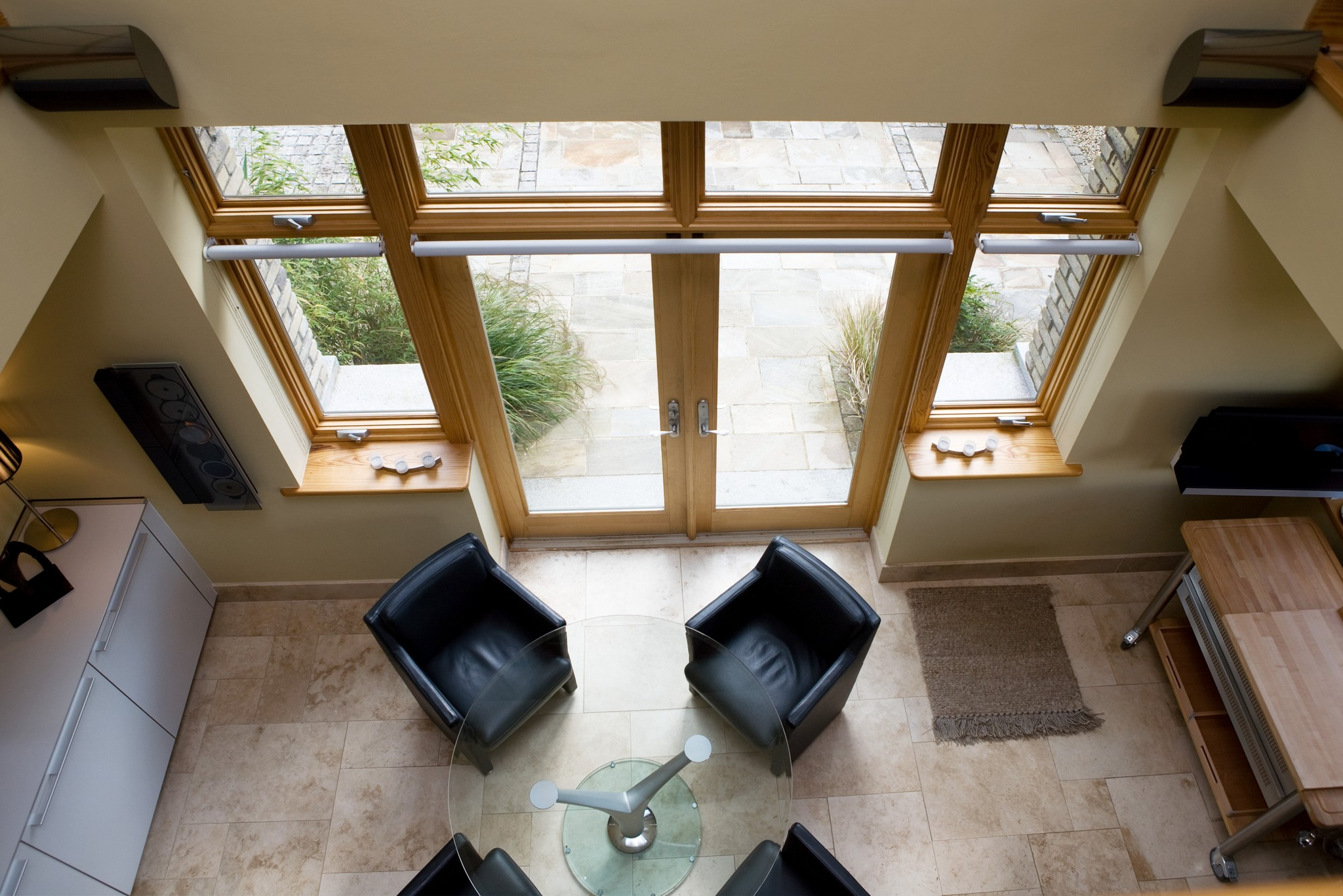 French doors with fixed units for conservatory