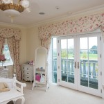 French doors with white panels for bedroom balcony