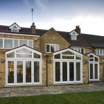 Side open windows and doors used with Victorian style home