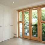 French doors with fixed screens and windows