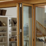 Signature Easifold doors with brown wood type panel