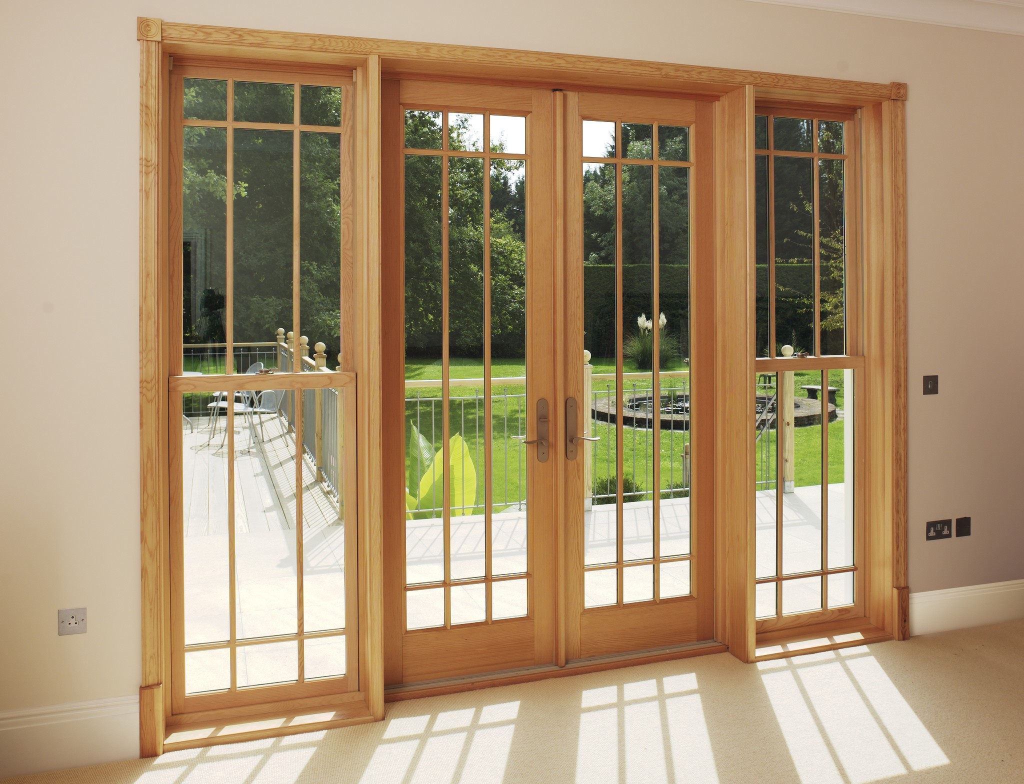 Signature megrame wood french doors signature for Wooden double glazed french doors exterior