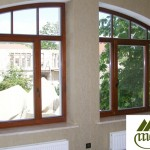 Megrame casement arch shaped window