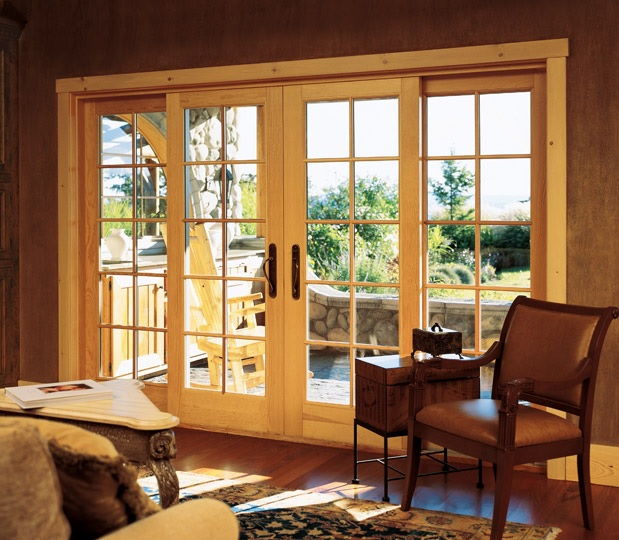 wooden lift and slide door