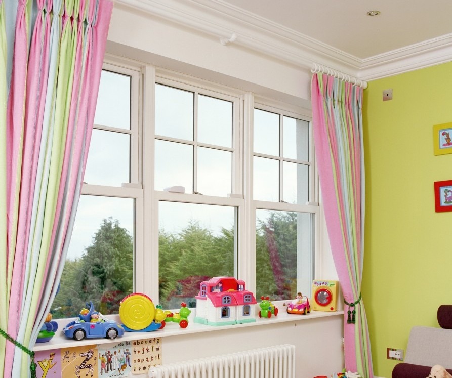 Room in Georgian style with modern sash windows