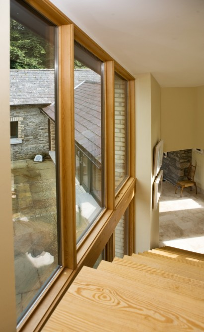 Casement windows extension lodge