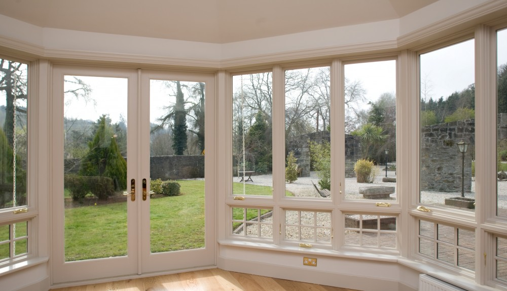 Outswing French Doors in Garden Entrance