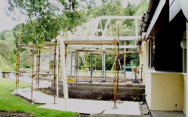 Underutilised glass conservatory