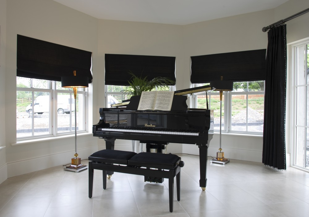 Piano Room with Traditional Sash Windows