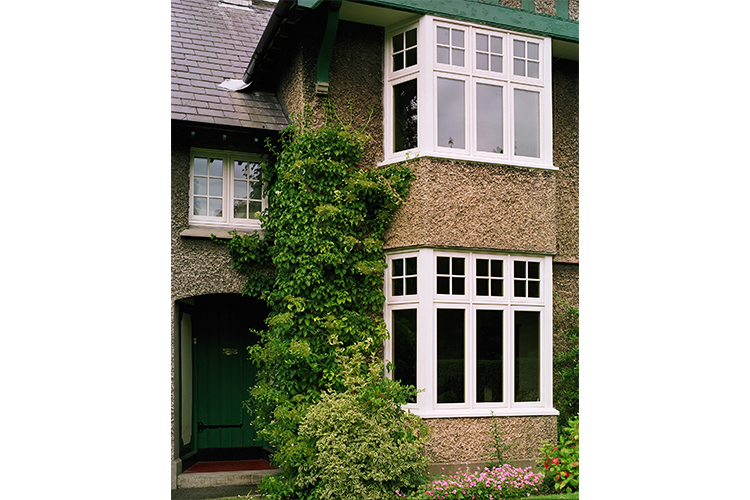 Bay Casement Window With White Finish