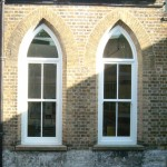 Sliding sash window style for historical building