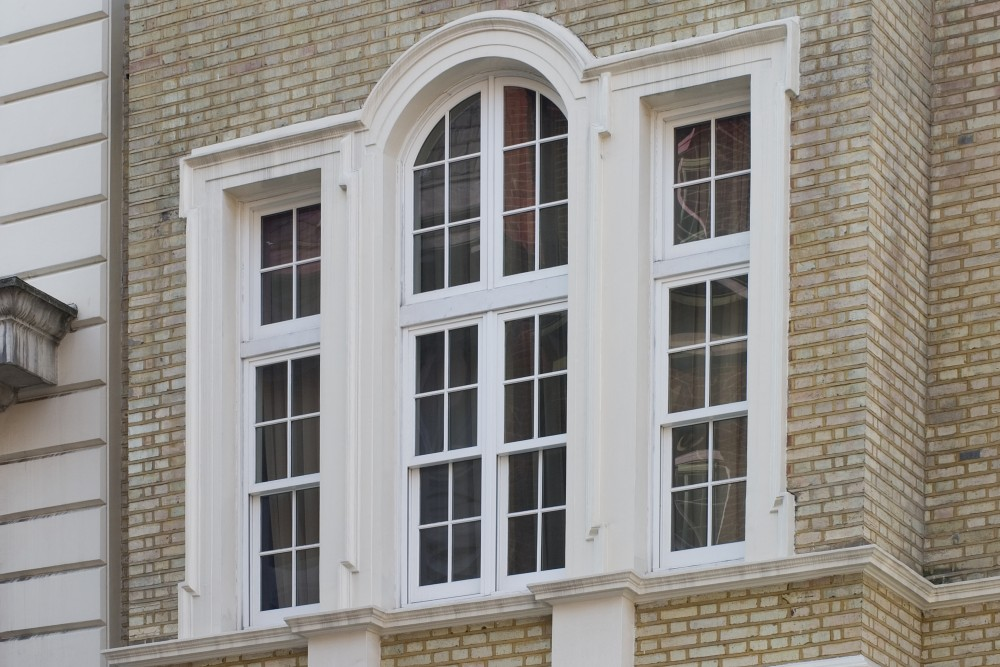 Custom shaped sliding sash window