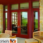 Andersen french doors with red paint
