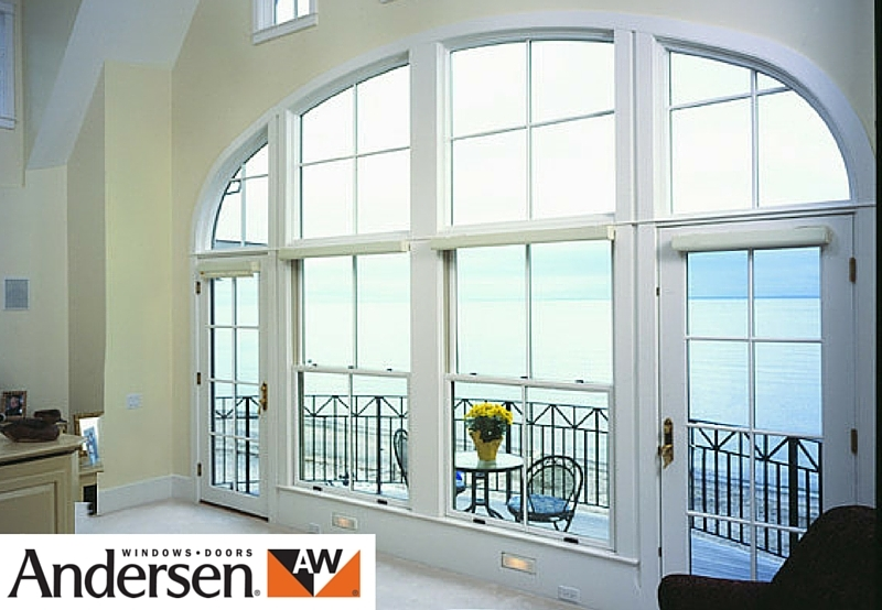 Andersen french white aluminium door