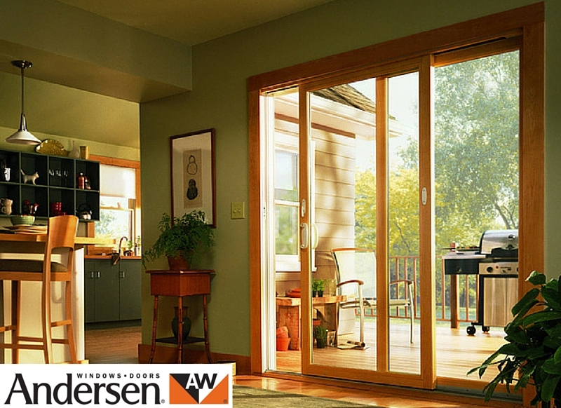 Andersen 100 Series Sliding Patio Door Sound View Window