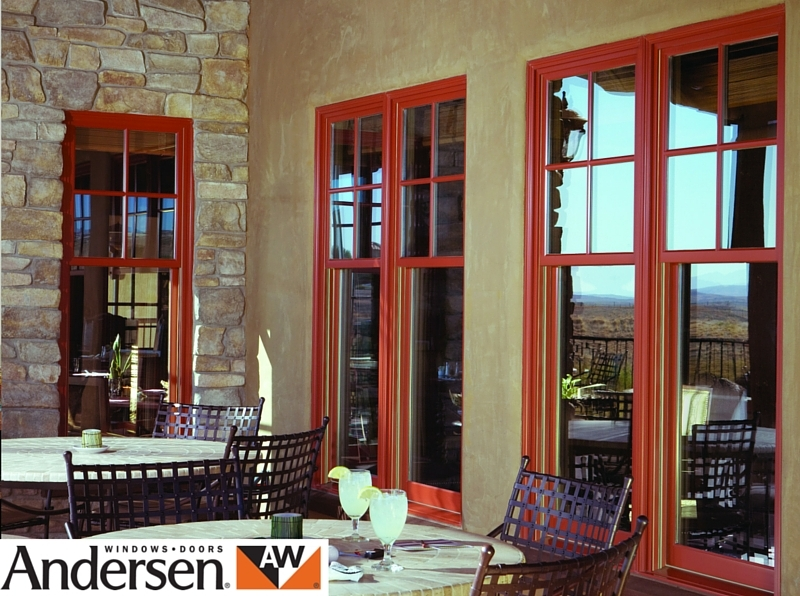 Andersen sliding sash in patio