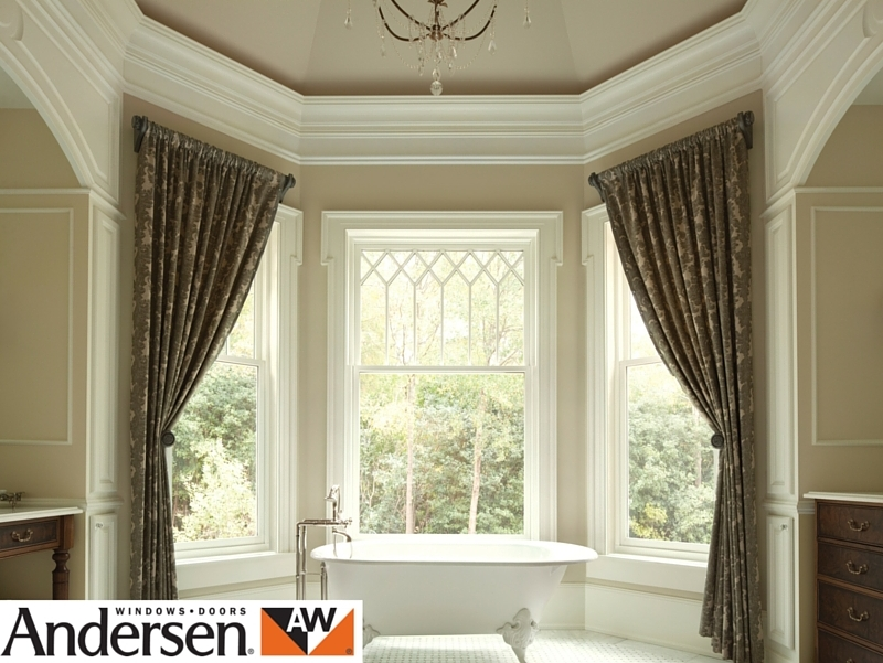 Andersen sliding sash window in a modern luxury home