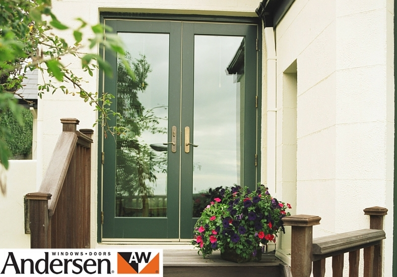 Clad wood french door
