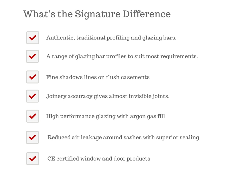 signature difference