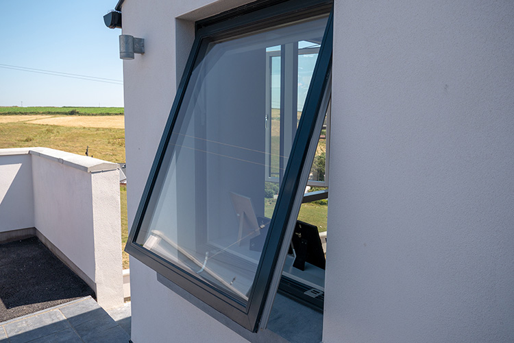 Grey Aluclad Awning Window