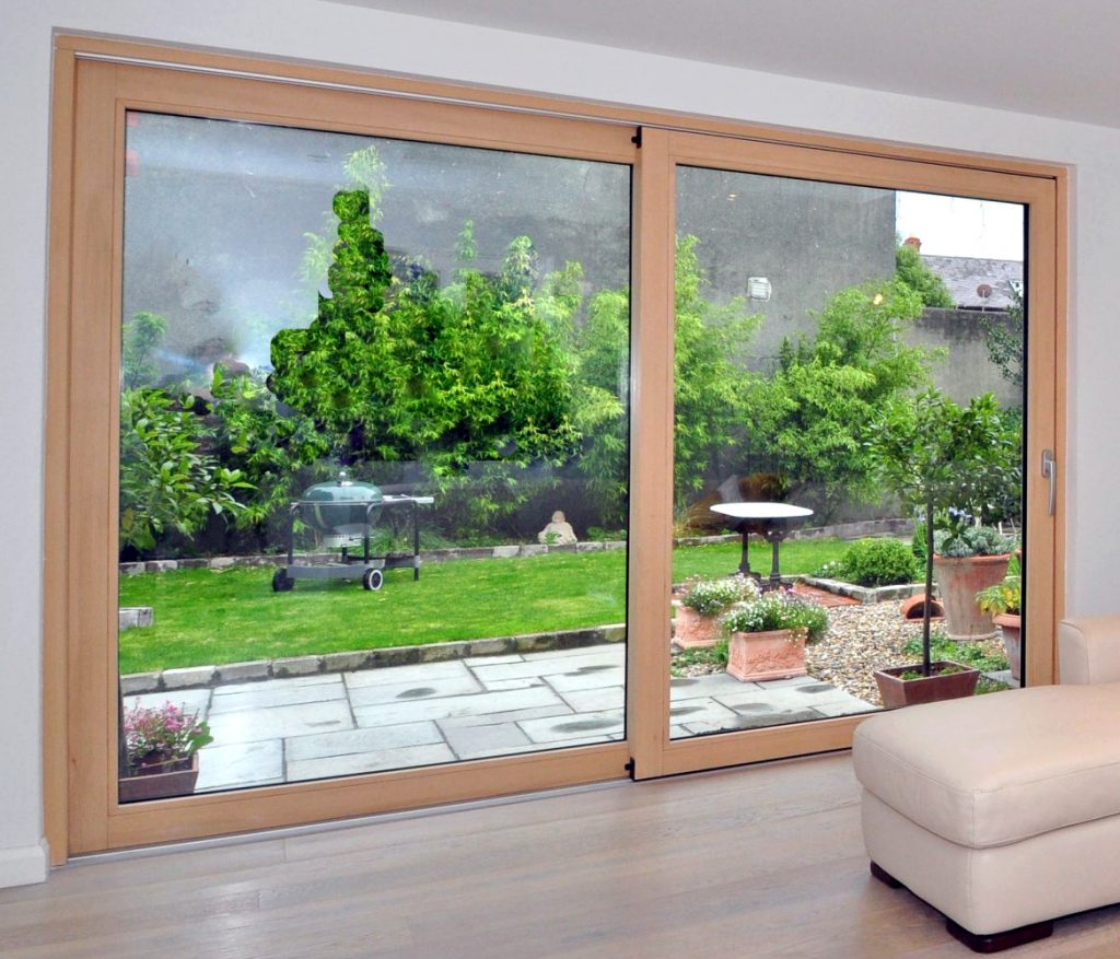 2 Panel Interior Wood Lift Slide Door