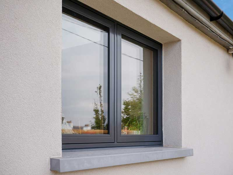 Aluclad Windows Dublin Grey Finish