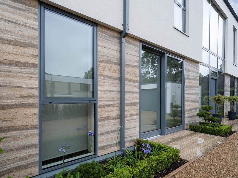 Aluminium Clad Wood Top Hung Windows