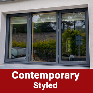Contemporary Styled AluClad Wood Windows