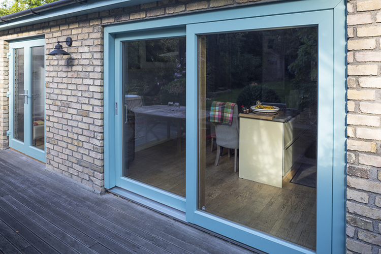 Bespoke Aluminium Clad Wood Sliding Patio Door