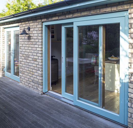 Large Aluminium Clad Wood Lift & Slide Door