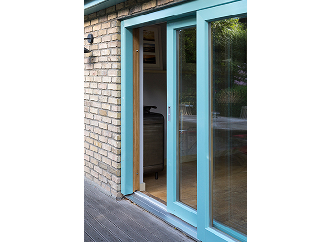 Large Aluminium Clad Wood Patio Door