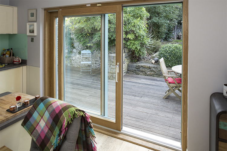 Large Sliding Patio Door Open