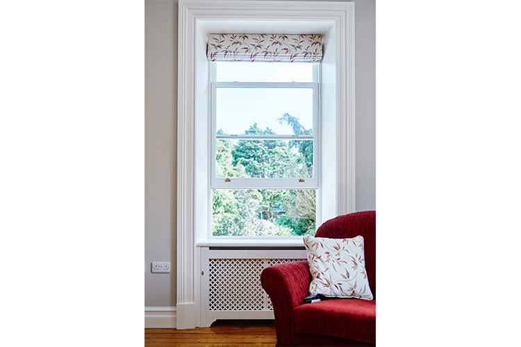 Andersen Sliding Sash Windows Open In Living Room